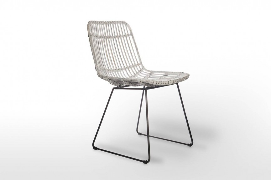 meble ogrodowe rattanowe - ręcznie wyplatane krzesło DINAN