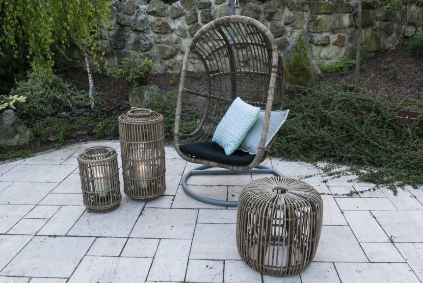 meble ogrodowe rattanowe - huśtawka / fotel wiszący NICE
