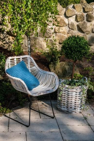krzesło LAVAL - element zestawu rattanowego na taras LYON