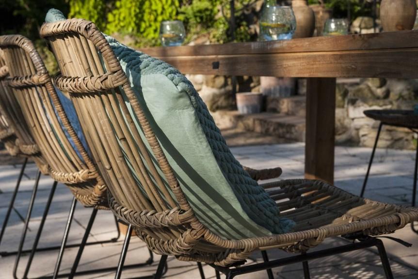 meble rattanowe na balkon - krzesło DINAN