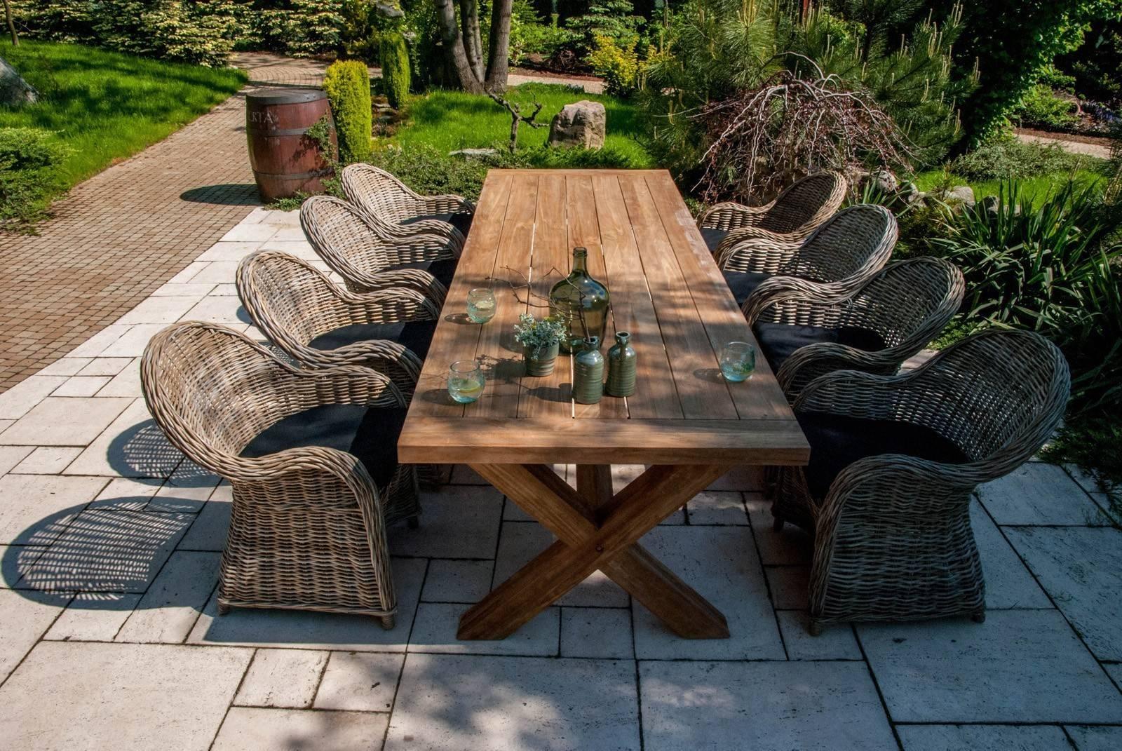 krzesła rattanowe ogrodowe VERSAILLES