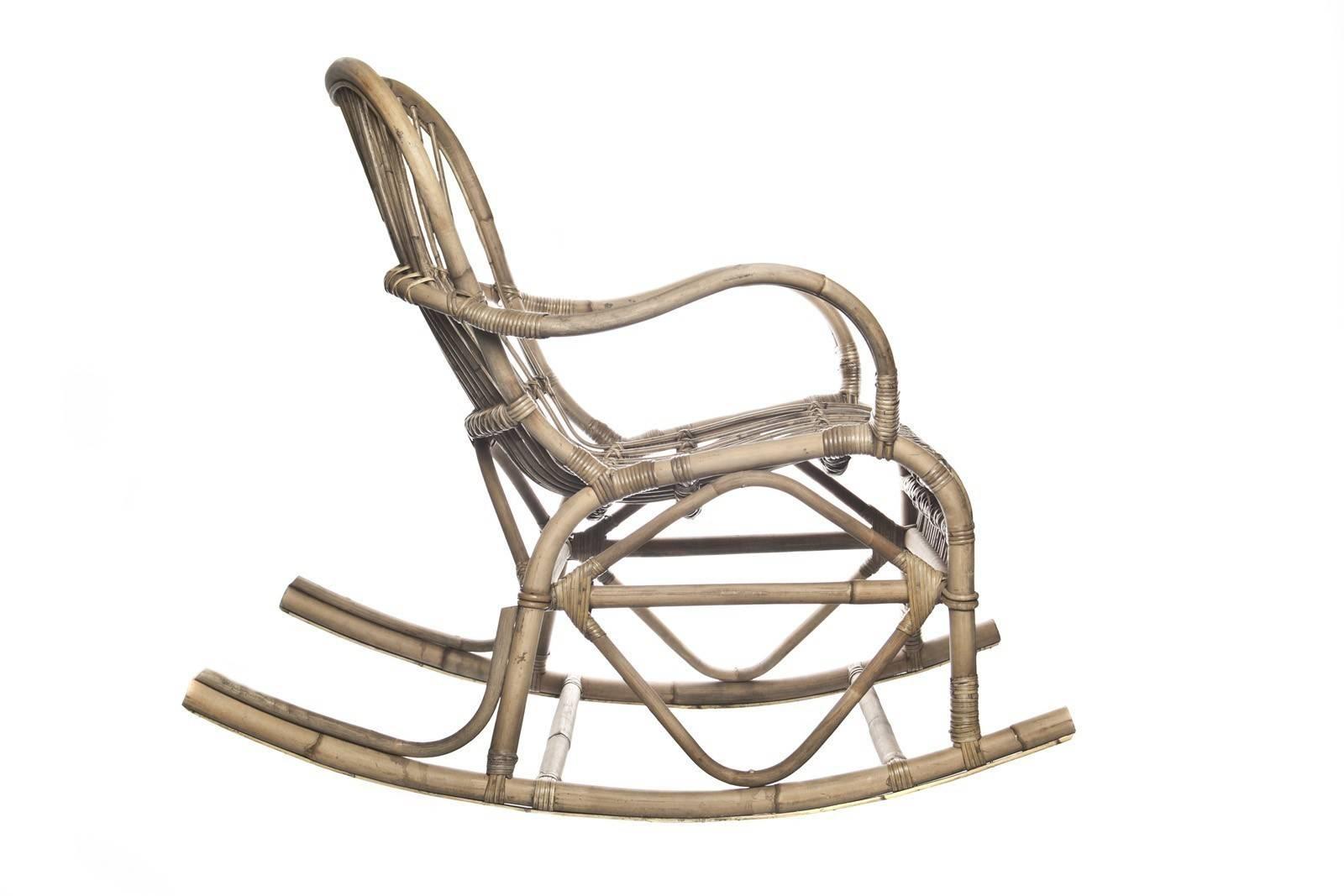 Fotel bujany z rattanu MARSEILLE