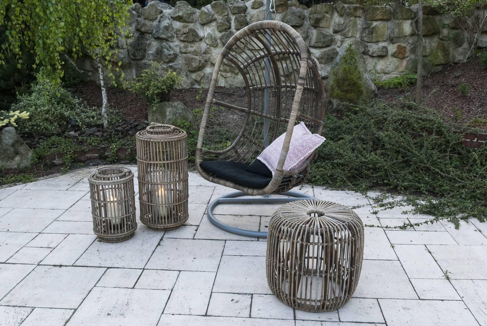 meble z rattanu do ogrodu wisząca huśtawka NICE