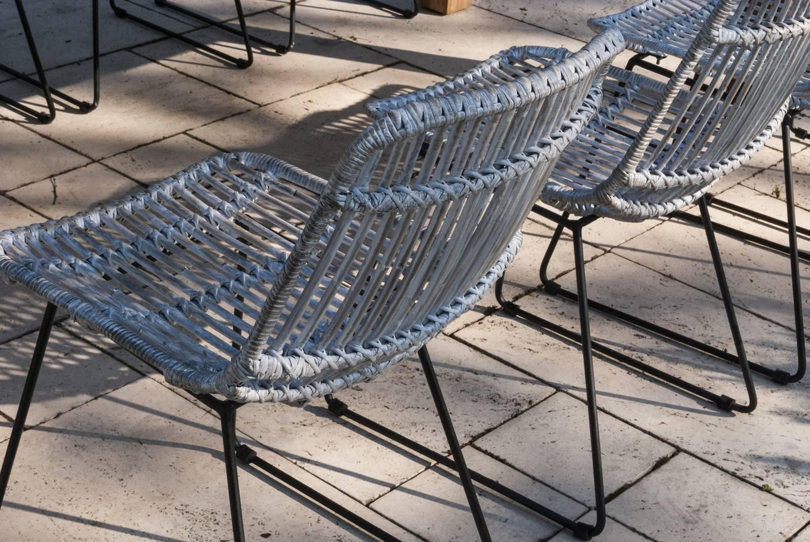 krzesła rattanowe ogrodowe DINAN