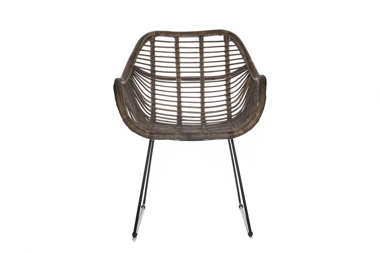 Krzesło retro z rattanu naturalnego LAVAL