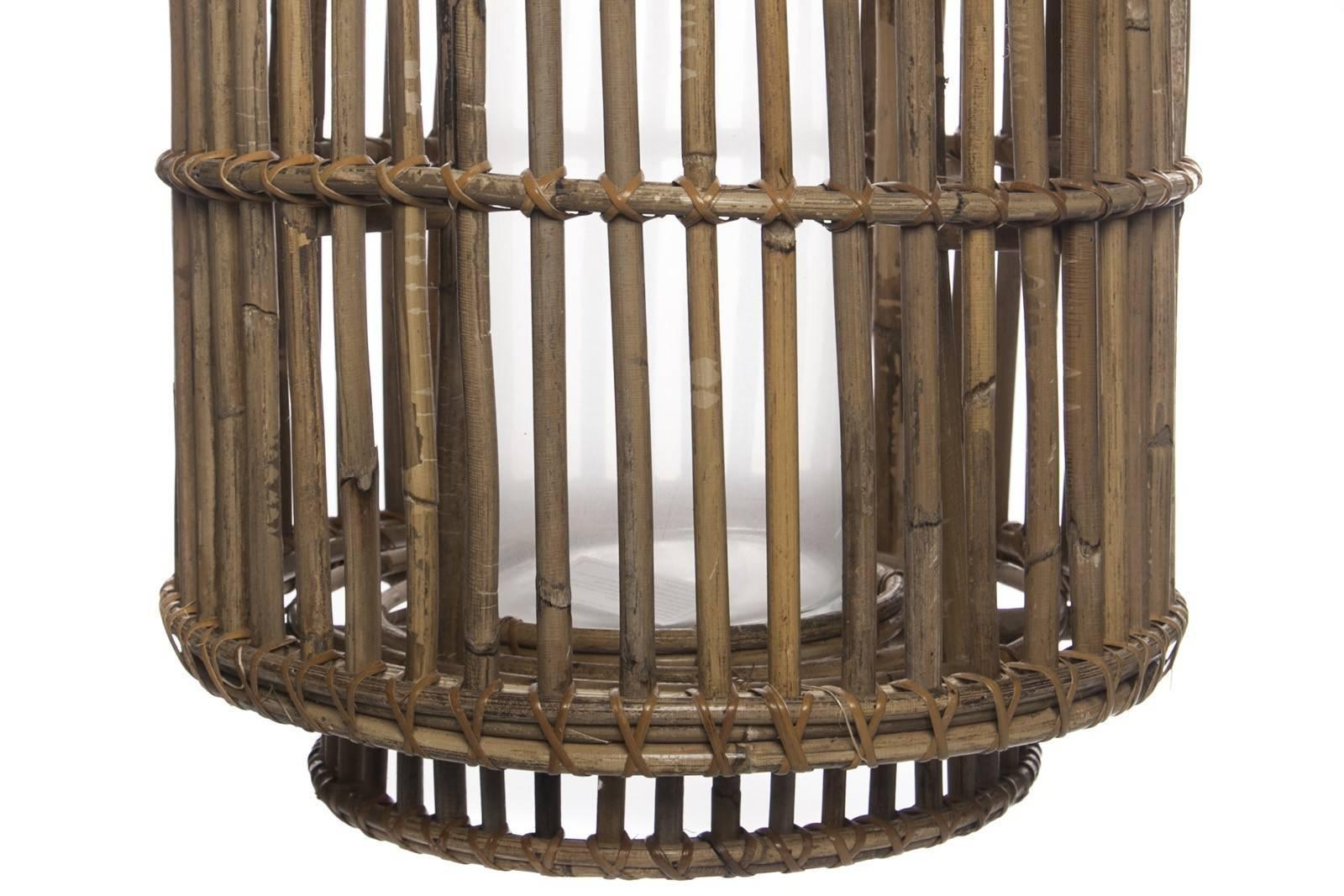 Lampion rattanowy okrągły EMILION