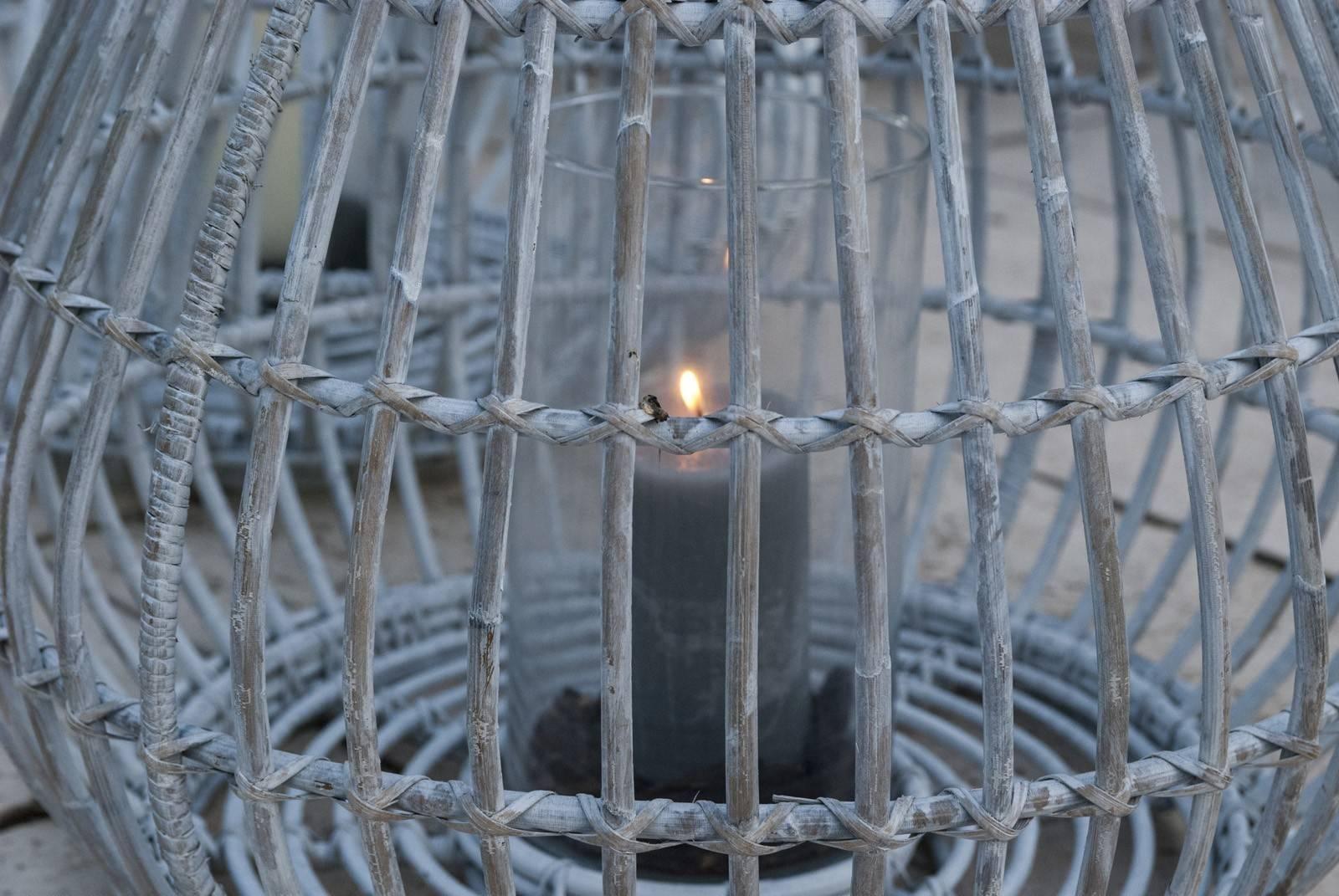 Lampion okrągły rattanowy CAEN