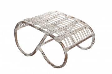 Podnóżek z rattanu CANNES