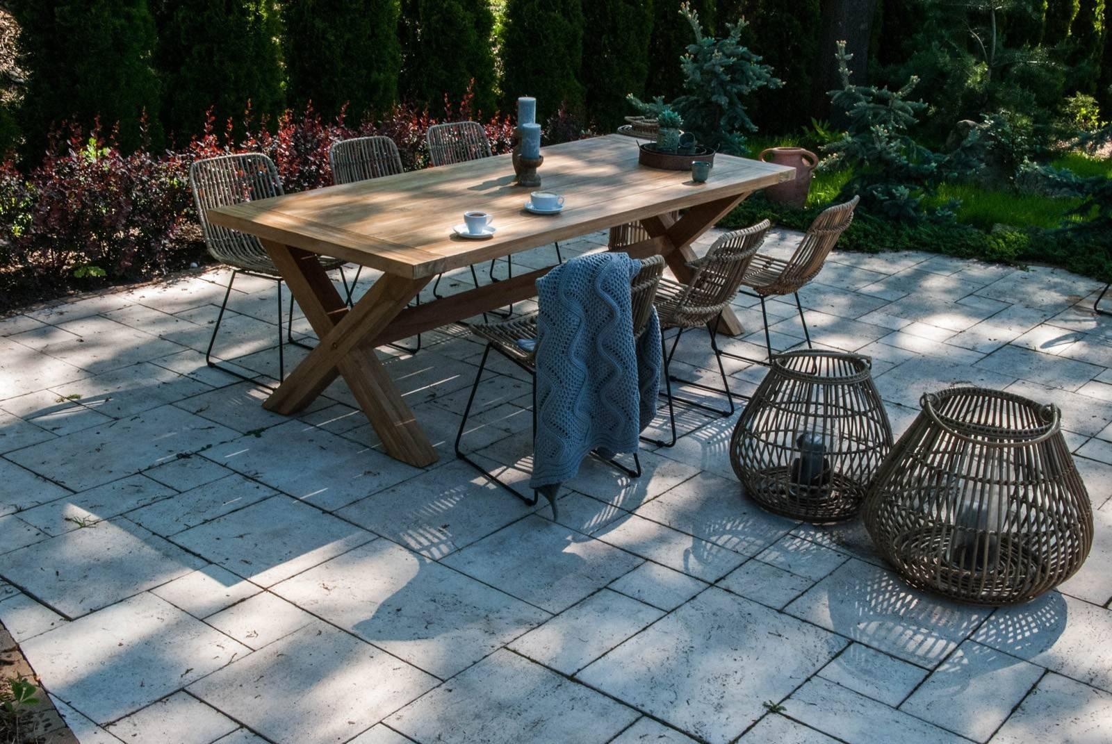 Drewniany stół tarasowy teak LYON