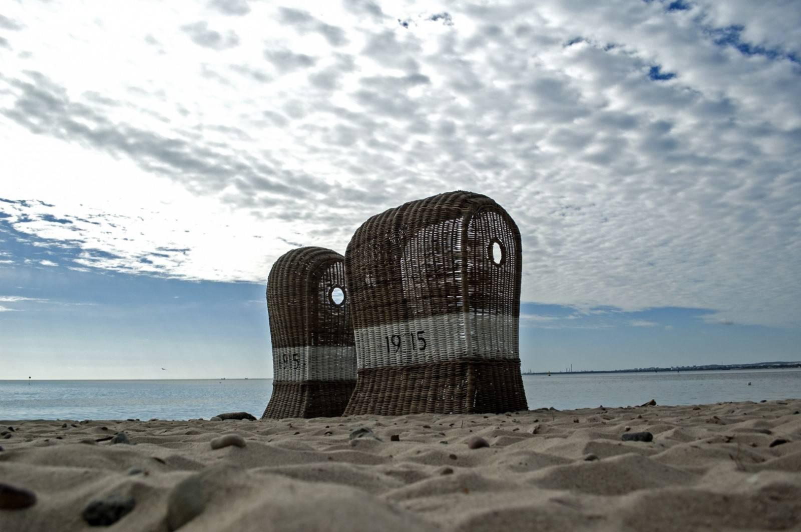 Kosz z rattanu plażowy ST TROPEZ