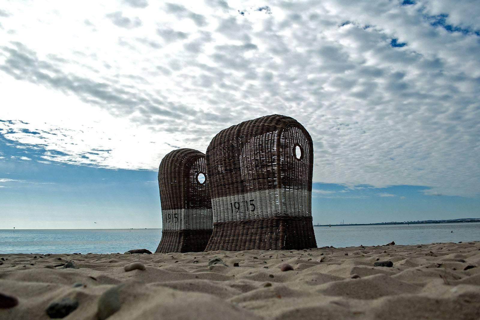 Kosz plażowy ST TROPEZ DUO z rattanu